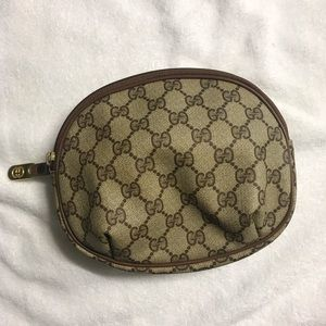 Authentic Vintage Gucci Clutch cosmetics pouch
